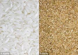 Arroz integral vs arroz blanco