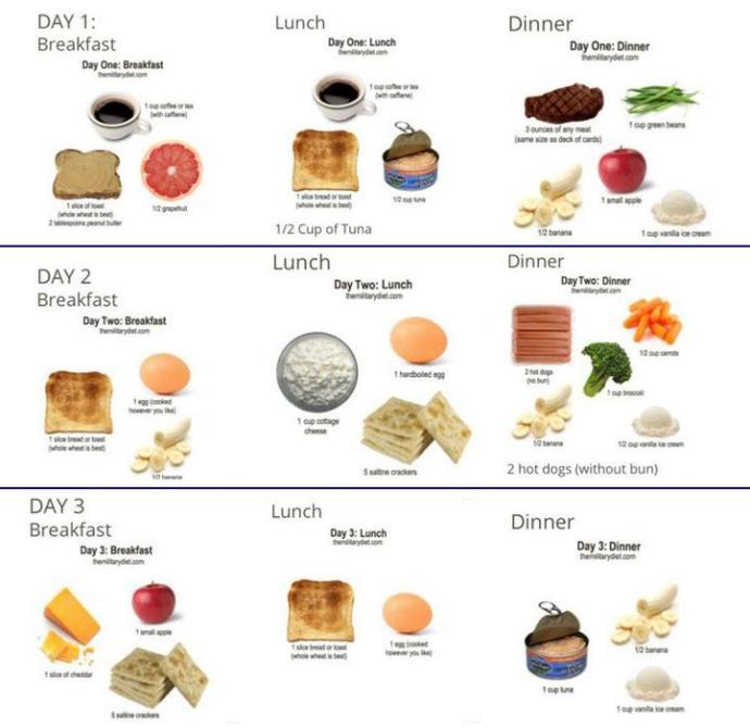 Dieta militar funciona para perder peso - Dietas Deportivas.