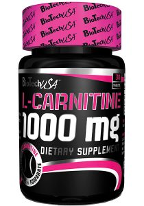 carnitina 1000 mg biotech usa 100 tabletas