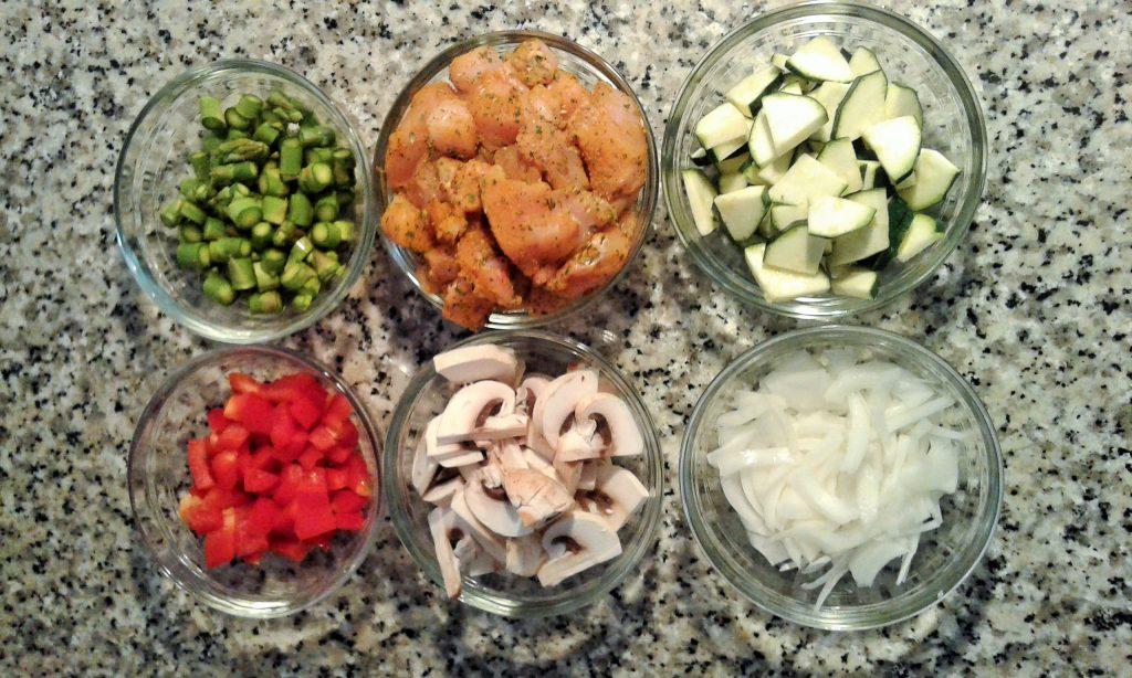 Cuscus de espelta con pollo y verduras