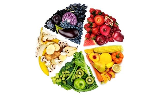 Colores de los alimentos frutas y verduras