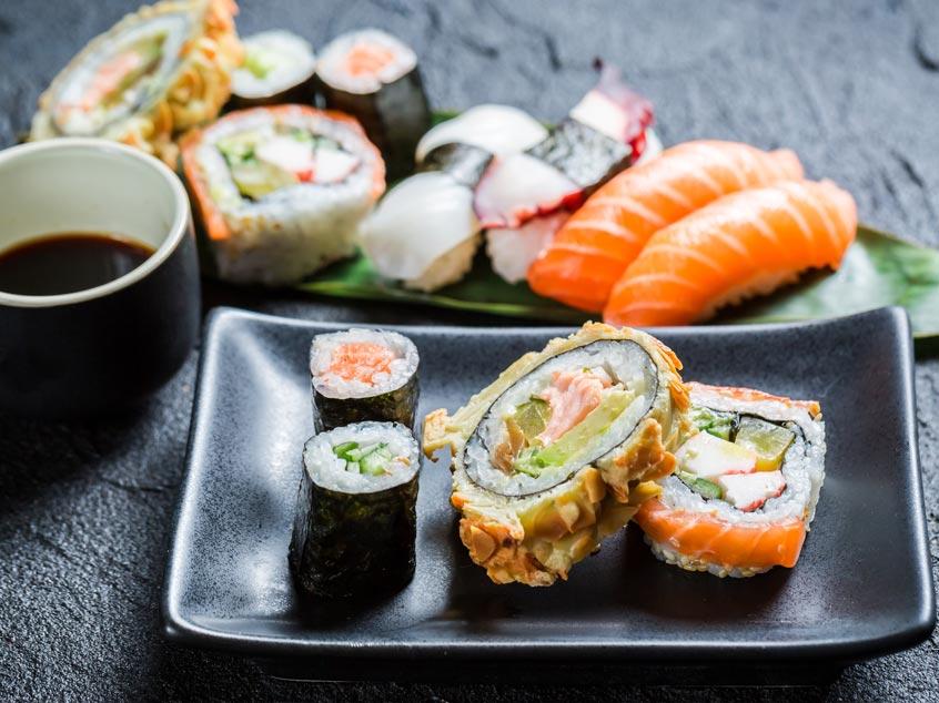 Sushi dieta saludable