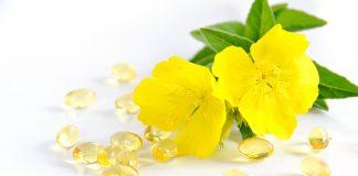 evening primrose and capsules