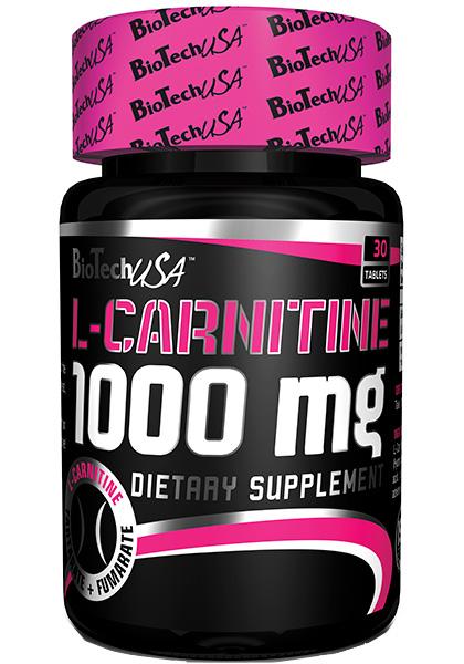 l carnitina 1000 mg biotech usa 100 tabletas