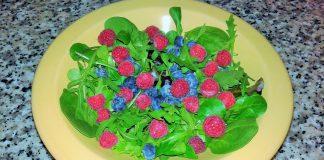 Ensalada de frambuesas y arandanos