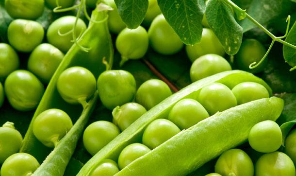 Guisantes fuente de fibra y vitaminas
